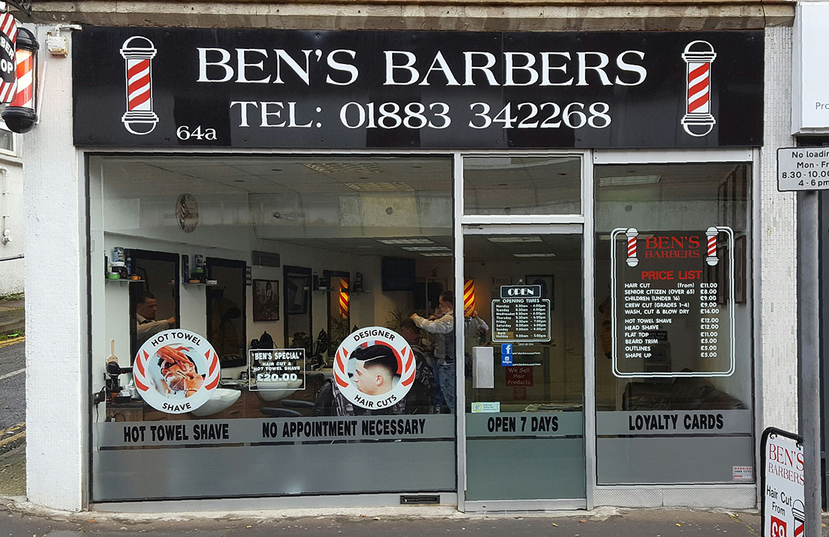 Ben's Barbers in Caterham Valley, Surrey