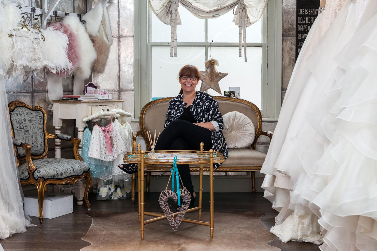Sally Brady at Helena Fortley Bridal Boutique
