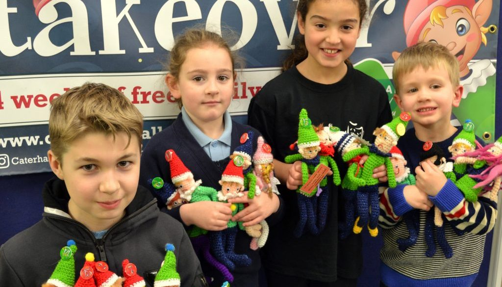 We found them! Winners of the Caterham Valley For You Elf Trail, (left to right) Jake Connor, Mia Brown, Seren Cunningham and Arthur Hopkins