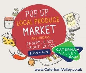 Pop-up local produce market