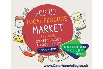 Pop up local produce market portal