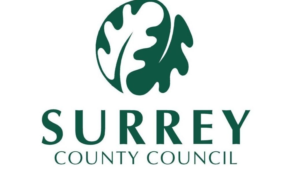 Caterham Valley Library Surrey County Council logo 1