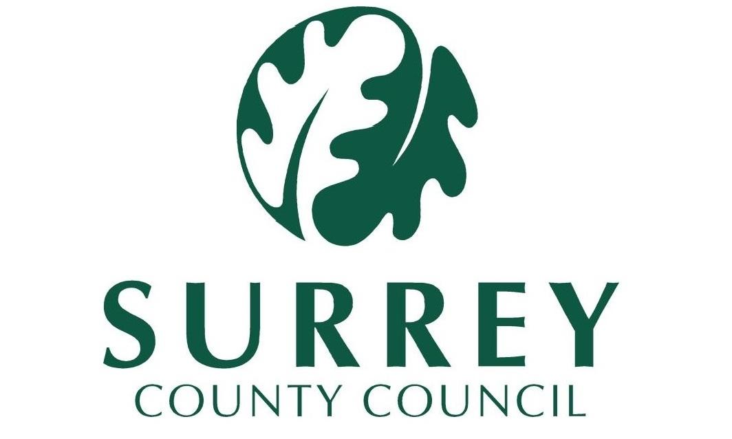Caterham Valley Library Surrey County Council logo 1