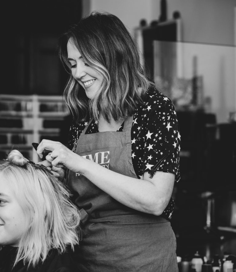 Time Hair & Beauty owner Katherine Casey-Farmer