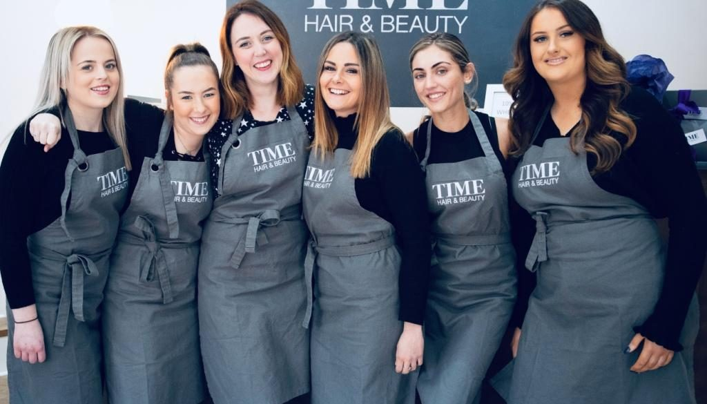 Time Hair Beauty Caterham team web