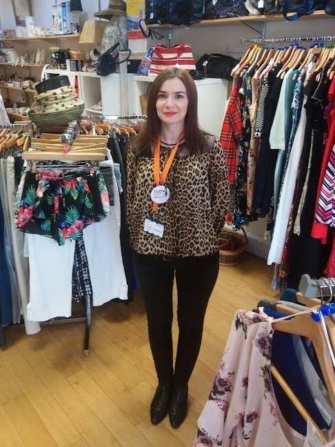 Emma Glass at St Catherine's Hospice charity shop