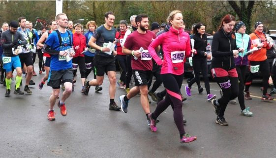 Wingate's StarRun charity run in Lingfield, Surrey for Young Epilepsy