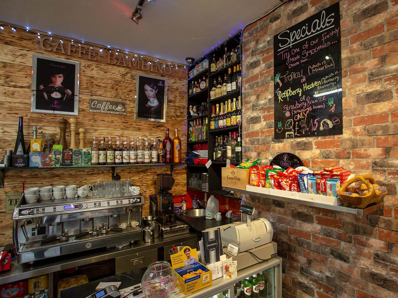 Caffe Bambino coffee shop in Caterham Valley, Surrey