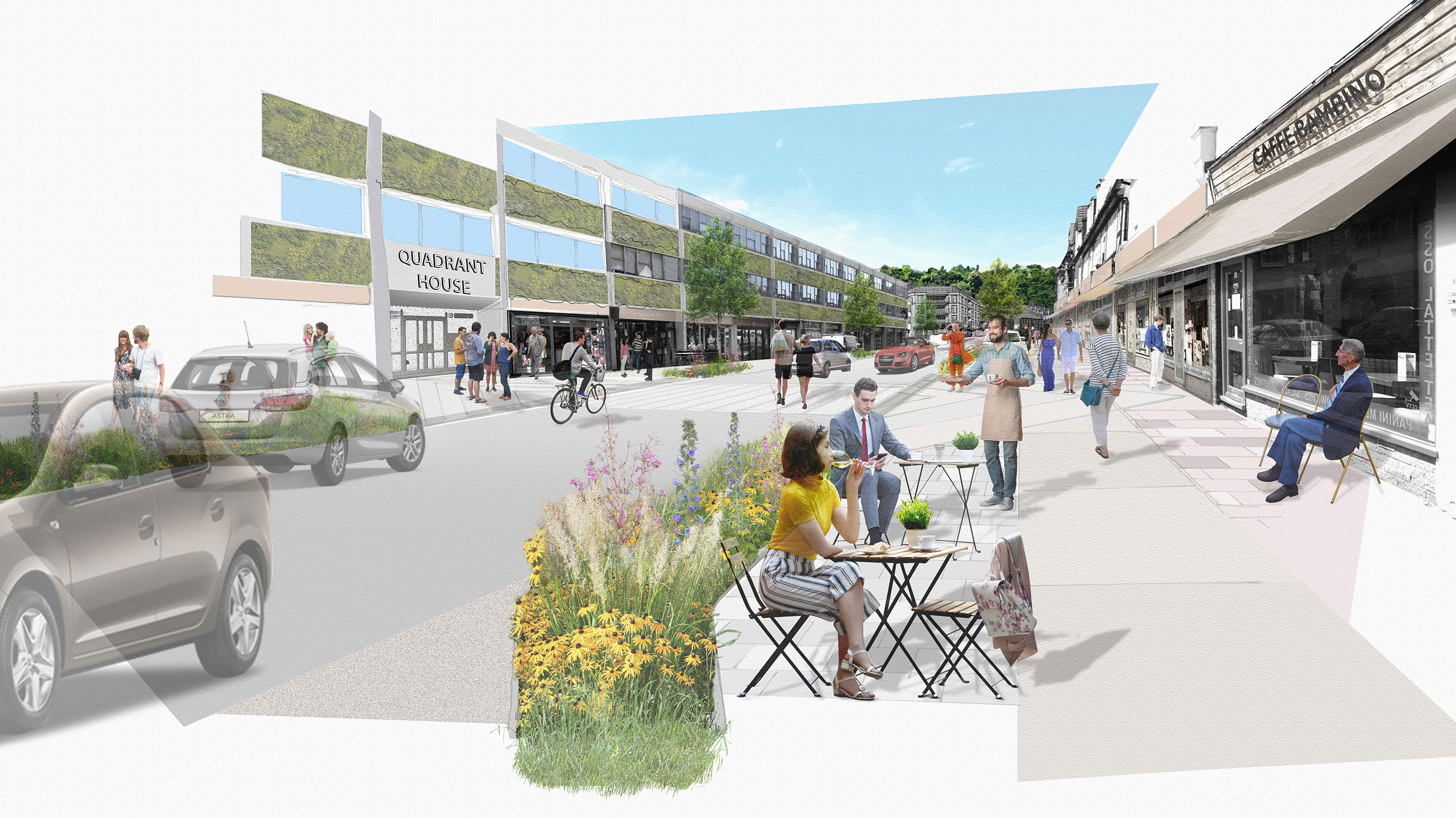 Regeneration of Croydon Road in Caterham Valley town centre