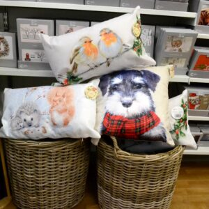 Cancer Research UK - Christmas cushions