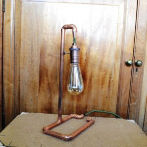 Pedrick's Zero Waste Shop - upcycled copper lamp
