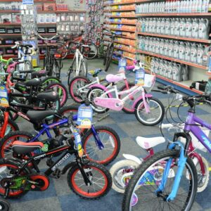 Children's bikes at Motor World in Caterham Valley, Surrey