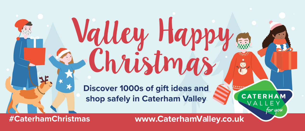 Valley Happy Christmas banner for Caterham Christmas