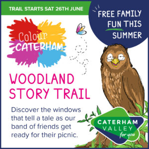 Woodland Story Trail in Caterham Valley in July 2021