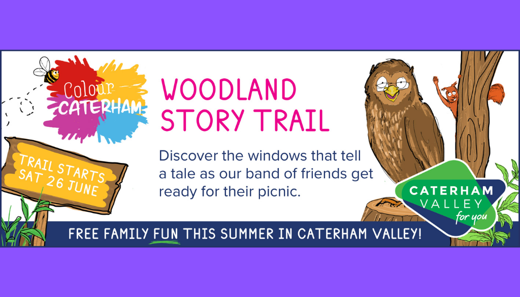 Colour Caterham, Surrey event banner for story trail